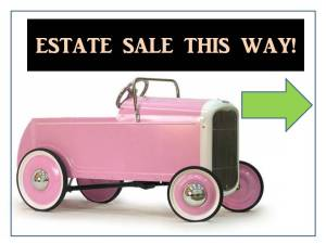 ESTATE SALE THIS WAY!