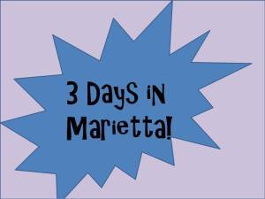 3 days in Marietta