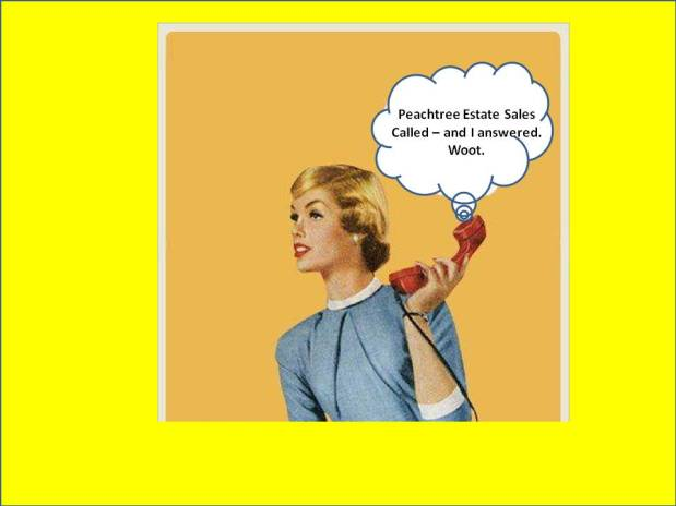 Peachtree Estate Sales is holding a ONE DAY in EAST POINT! Joinus!
