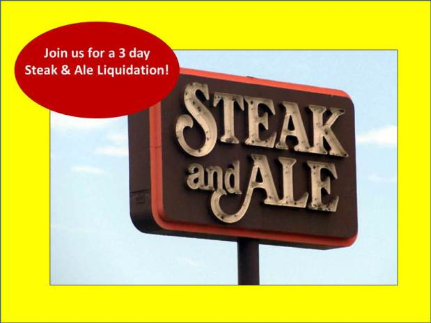 PEACHTREE ESTATE SALES is taking a walk down memory lane — at Steak & Ale on Virginia Ave! Join us!