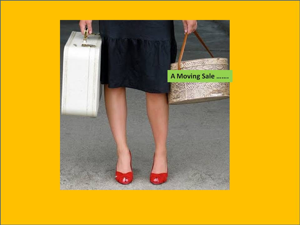 moving sale woman luggage