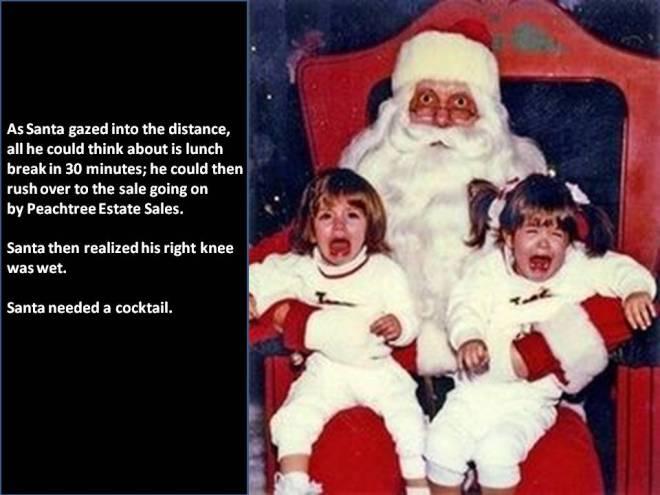 santa crying baby