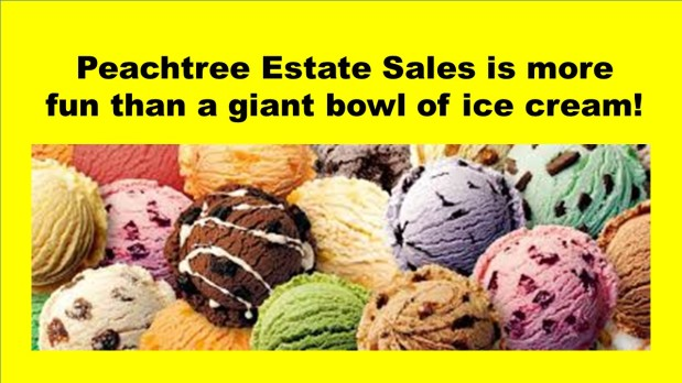 PEACHTREE ESTATE SALES is in SANDY SPRINGS FOR 3 DAYS!! Join us!!