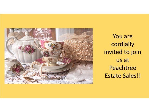 PEACHTREE ESTATE SALES is in HISTORIC COLLEGE PARK for 2 Days!!!!