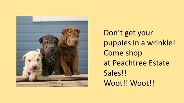 PEACHTREE ESTATE SALES is in COLLEGE PARK for 2 DAYS!!! Woot! Woot!
